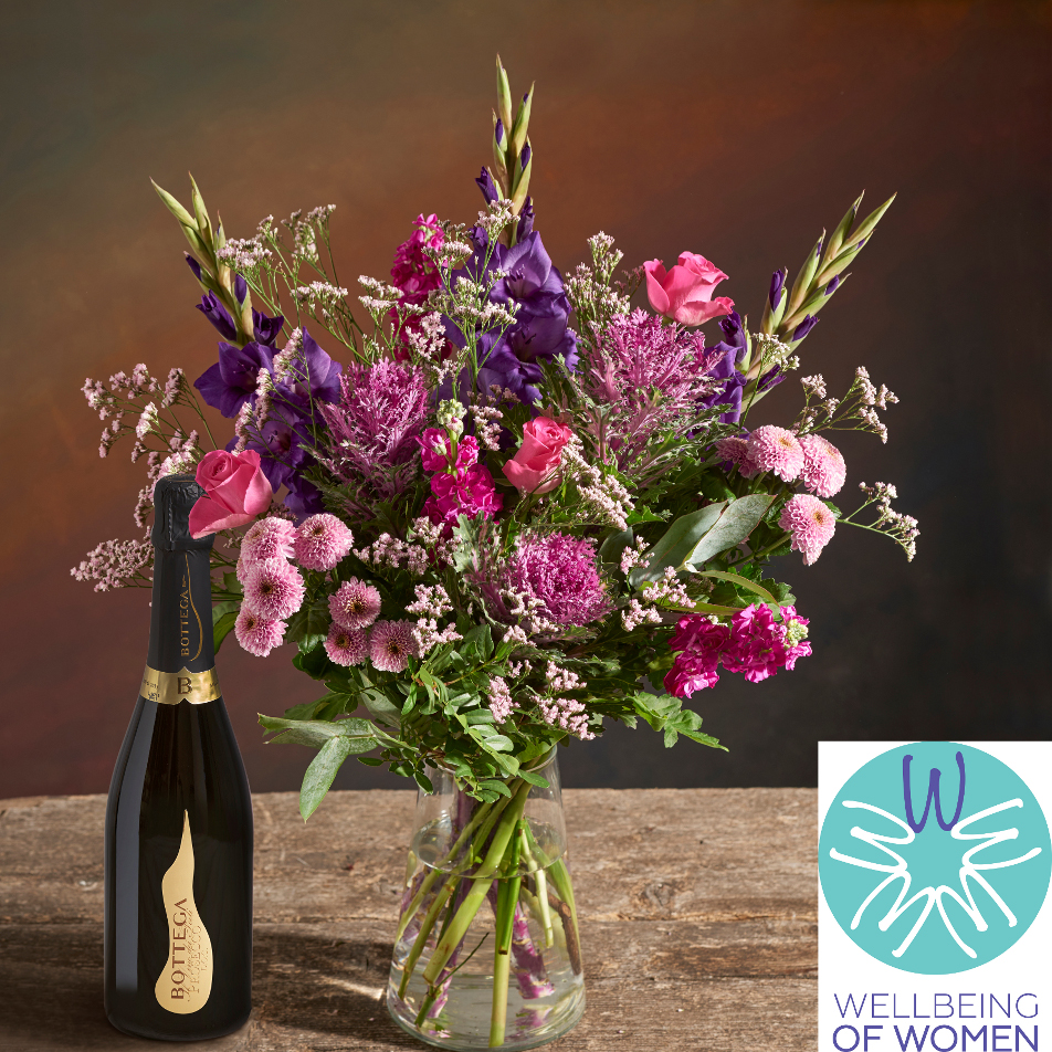 October Bouquet of the Month with Prosecco