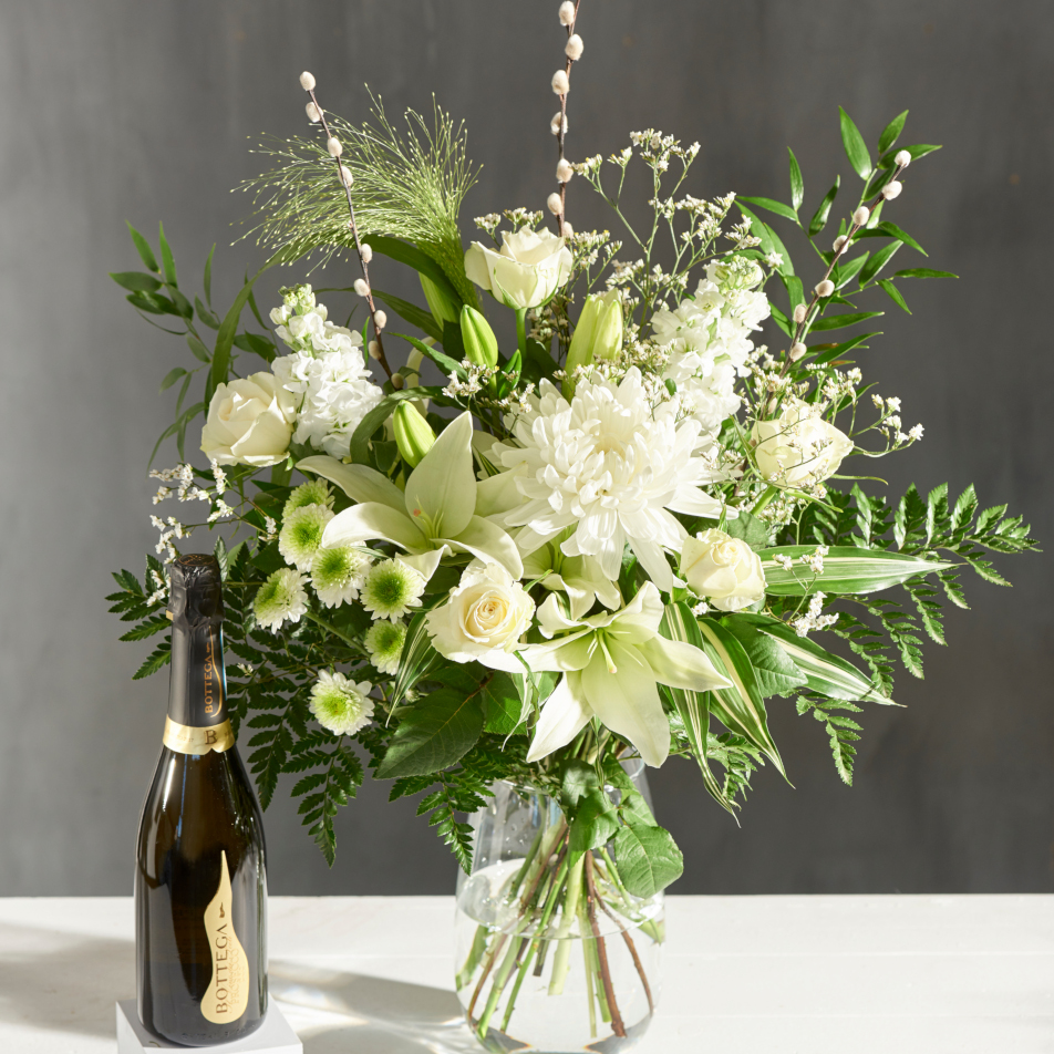 November Bouquet of the Month with Prosecco