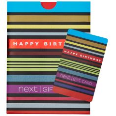 Stripe Happy Birthday Gift Card